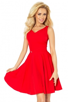 Dress circle - heart-shaped neckline - Red 114-3