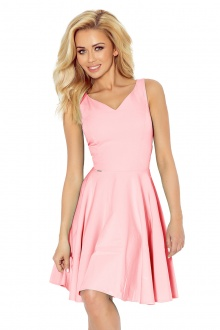 Dress circle - heart-shaped neckline - lihgt pink 114-5