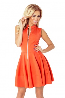 Dress with zipper - orange 123-5 - BIG SALE! %