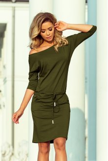 13-104 Sporty dress - viscose KHAKI