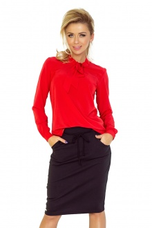 Blouse with bond - red 140-3