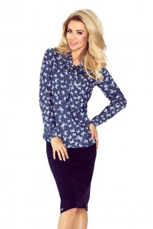Blouse with bond - jeans - Butterflies 140-7