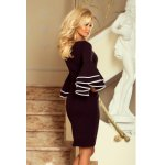188-2 CARMEN Dress with Spanish sleeves - black