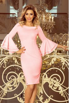 188-4 CARMEN Dress with Spanish sleeves - pastel pink