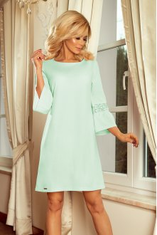 190-4 MARGARET dress with lace on the sleeves - mint