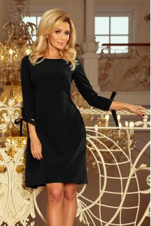 195-8 ALICE Dress with bows - black