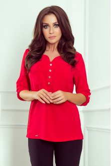 259-1 Blouse with buttons - red