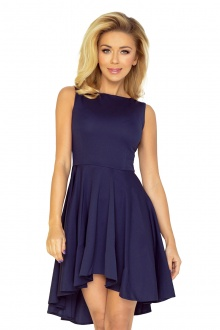 Exclusive dress with longer back - dark blue 33-3