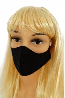 CV05 Reusable decorative masks - black - 100% cotton - 2 pieces