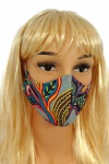 CV08 Reusable decorative masks - turquoise - 100% cotton - 2 pieces