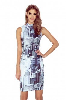 MM 002-1 Dress with small turtleneck - CITY