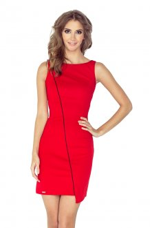 MM 004-4 Asymmetrical dress - red
