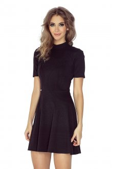 MM 011-3 Short Sleeve Dress - BLACK