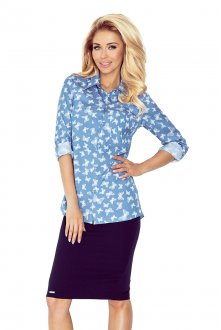 Shirt with pockets - jeans + butterflies MM 018-6 - BIG SALE! %