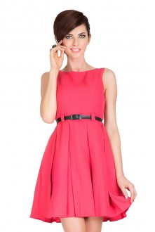 6-8 Dress with contrafold - coral - BIG SALE! %